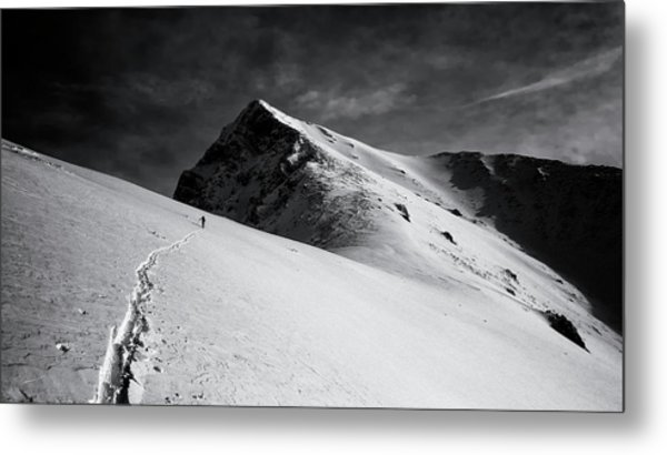 Lonely Climber Metal Print