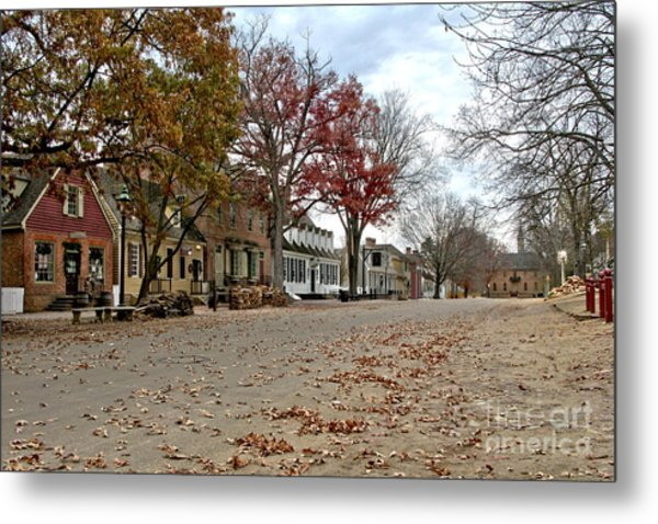 Metal Print featuring the photograph Lonely Colonial Williamsburg by Olivier Le Queinec