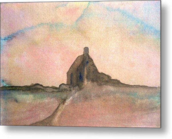 Lonely Cottage Metal Print