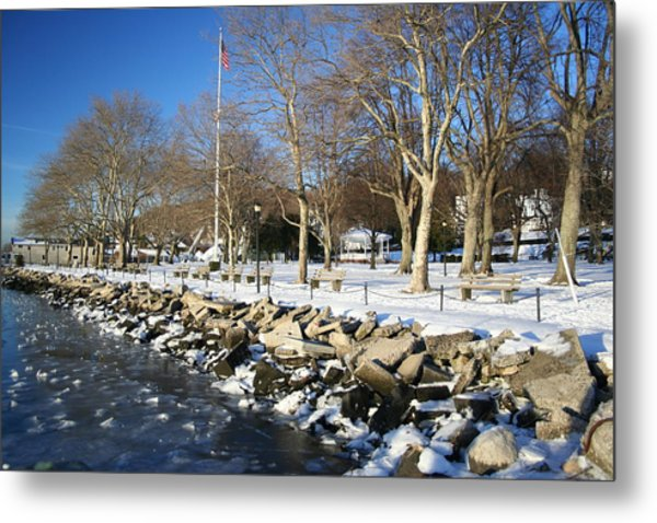 Lonely Park Metal Print