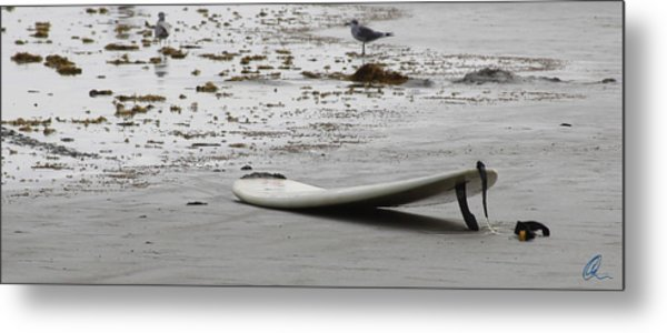 Lonely Surfboard Lg Metal Print