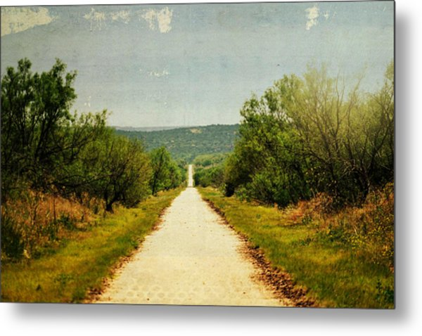 Long And Lonely Road Metal Print by Mikki Cromer