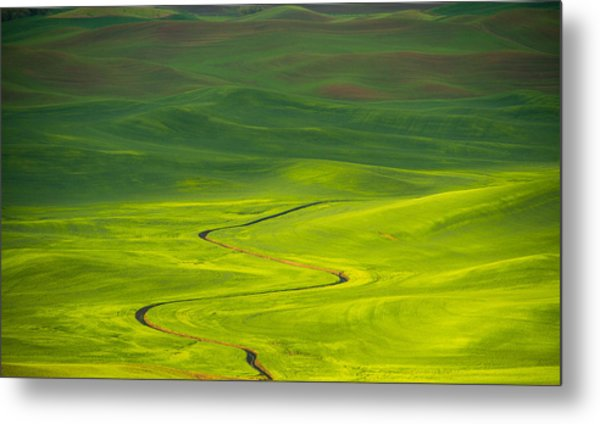 Long And Winding Road To Metal Print