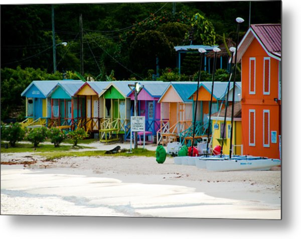 Long Bay Beach Shops Metal Print