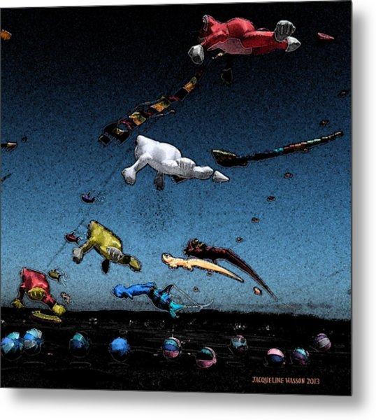 Long Beach Kites 2012 Metal Print