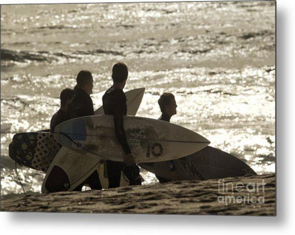 Long Day Of Surfing Metal Print by Christopher Purcell