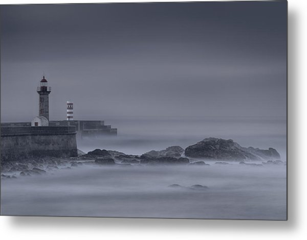 Long Exposure Foz Porto Metal Print