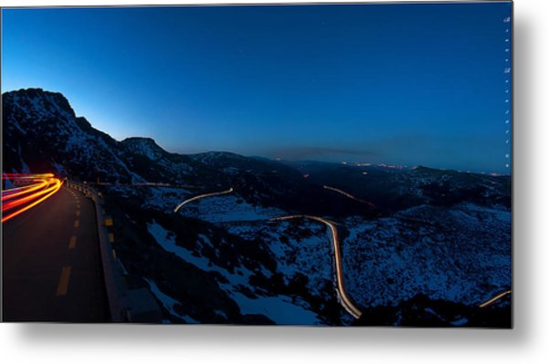 Long Exposure In Serra Da Estrela Portugal Metal Print
