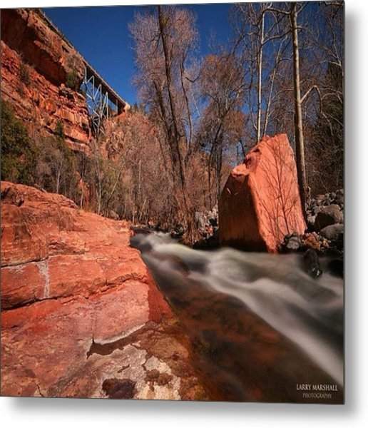 Long Exposure Photo Taken In The Oak Metal Print by Larry Marshall
