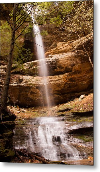 Long Hollow Waterfall Metal Print