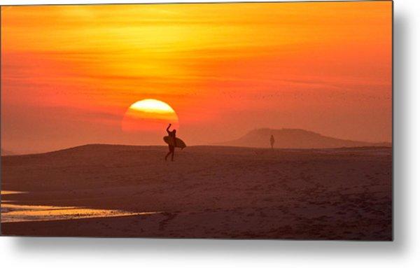 Long Island Surfer Metal Print