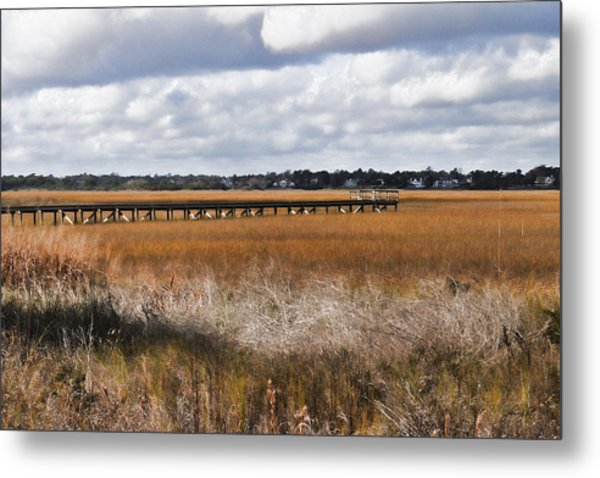 Long Marsh Dock Metal Print