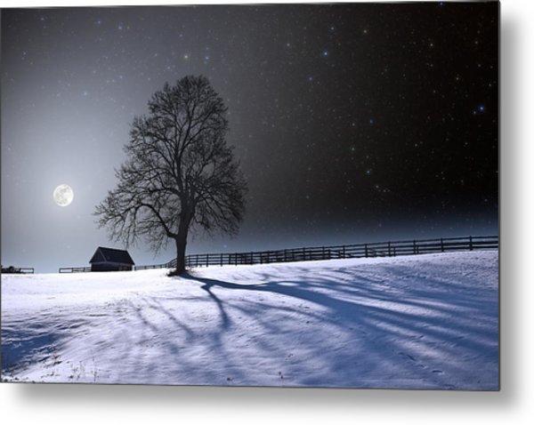 Long Moonrise Shadows Metal Print by Larry Landolfi