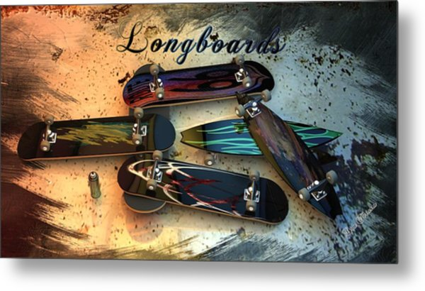 Longboards Metal Print