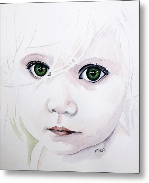 Longing Eyes Metal Print