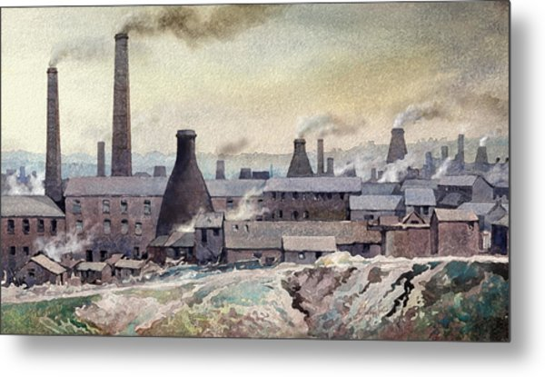 Longton Skyline Metal Print by Anthony Forster