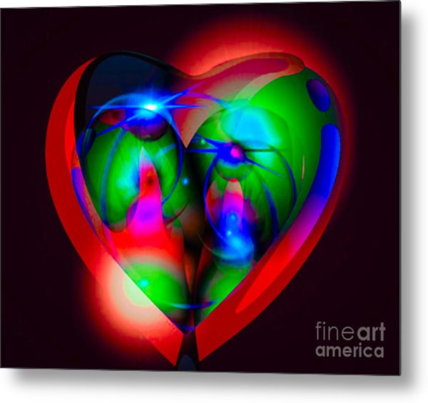 Look Inside My Heart Metal Print