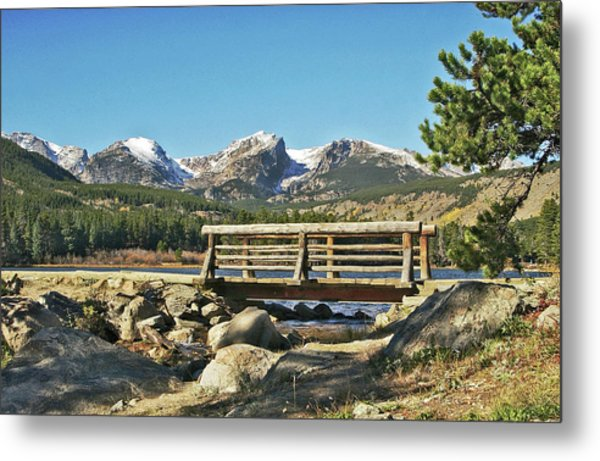 Looking At Longs Peak Colorado Metal Print
