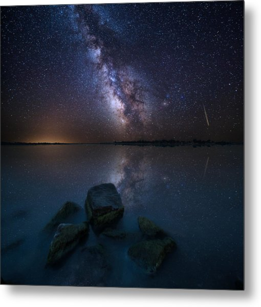 Looking At The Stars Metal Print