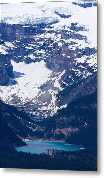 Looking Down At Lake Louise #2 Metal Print