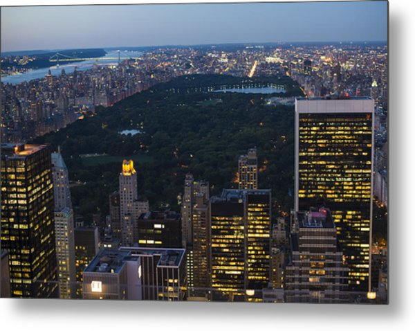 Looking From Top Of The Rock Metal Print