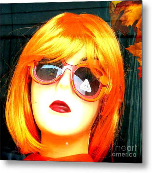 Looking In The Window - Two Metal Print