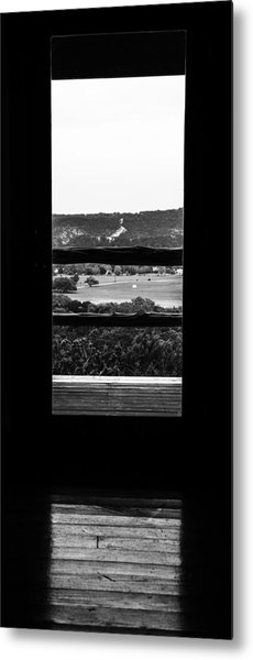 Looking Out A Country Door. Metal Print