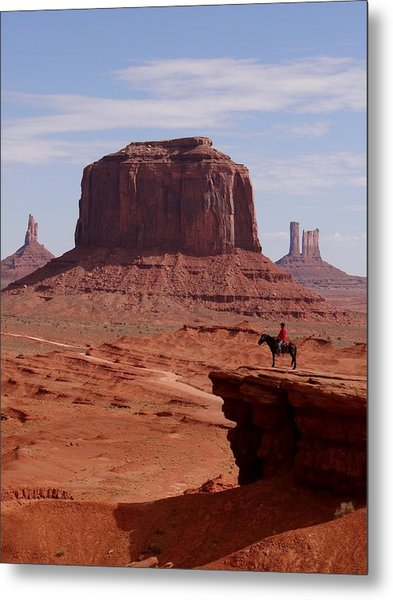 Looking Out At John Ford Point Metal Print