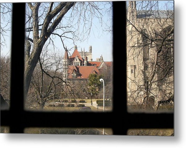 Looking Past The Window  Metal Print by Eugene Bergeron