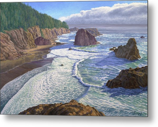 Looking South- Oregon Coast Metal Print
