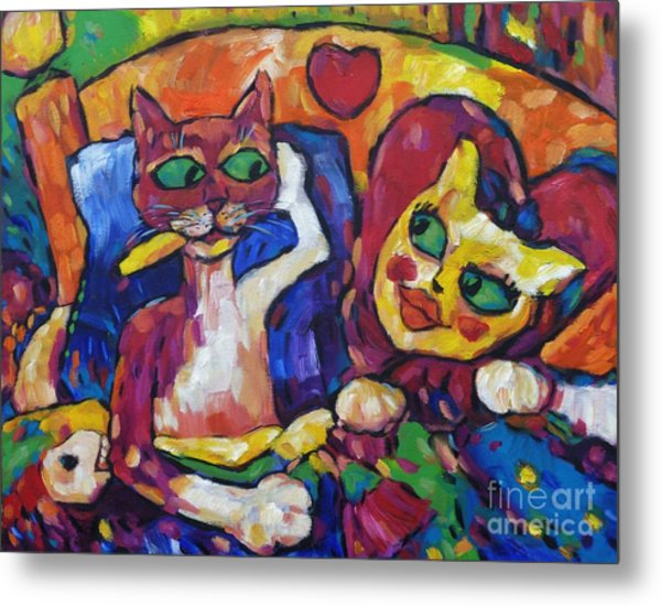 Looking Swell Cats Metal Print