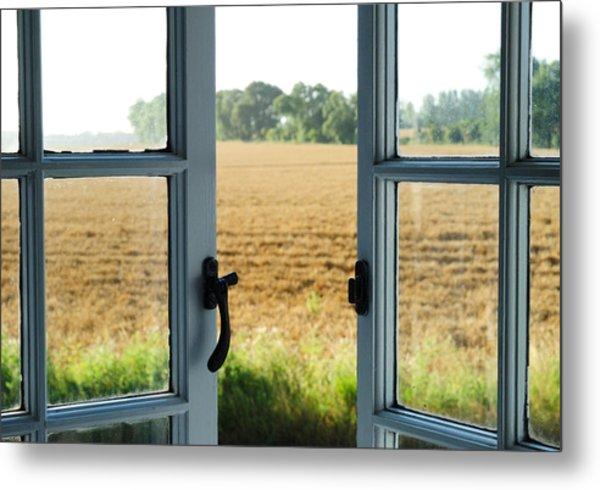 Looking Through A Window Metal Print