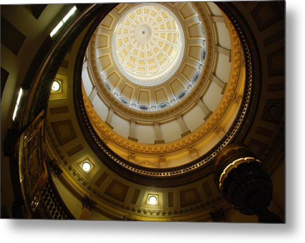 Looking Up The Capitol Dome - Denver Metal Print