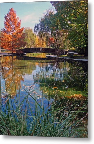 Loose Park In Autumn Metal Print