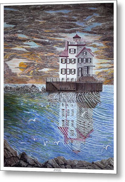 Lorain Lighthouse Metal Print by Frank Evans