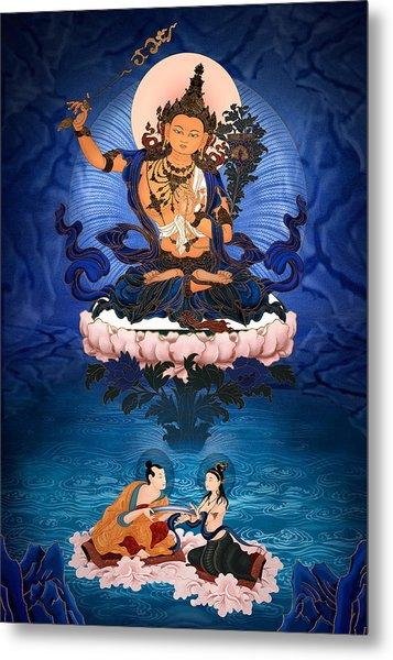 Lord Manjushri - Arya Nargajuna And The Naga Queen Metal Print by Ben Christian