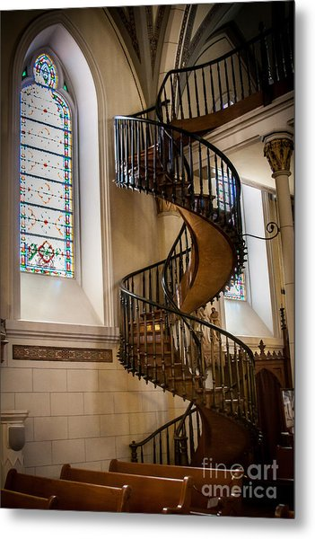 Loretto Chapel Staircase Metal Print