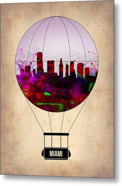 Miami Air Balloon 1 Metal Print
