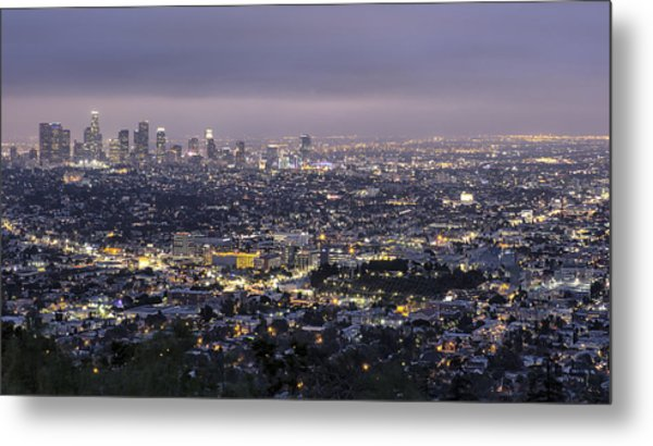 Los Angeles At Night From The Griffith Park Observatory Metal Print