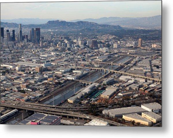 Los Angeles Bridges Aerial Metal Print by Kevin  Break