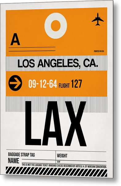 Los Angeles Luggage Poster 2 Metal Print