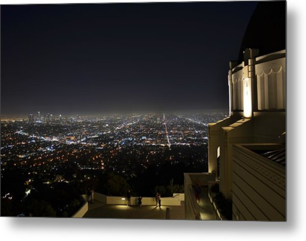 Los Angeles Skyline From Griffith Observatory Metal Print by David Lobos