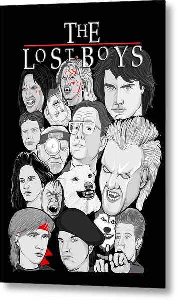 Lost Boys Collage Metal Print by Gary Niles