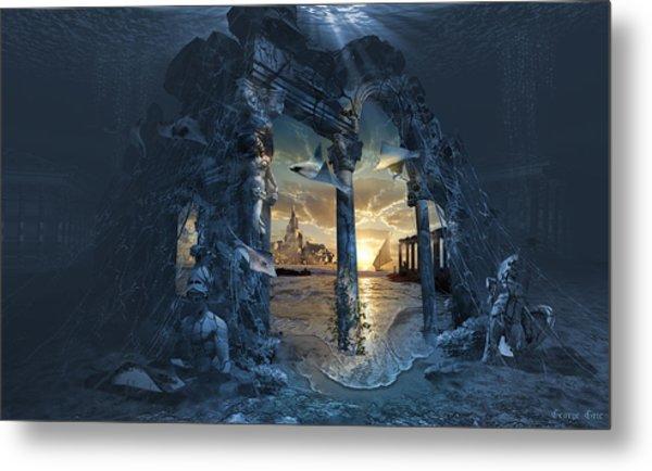 Lost City Of Atlantis Metal Print