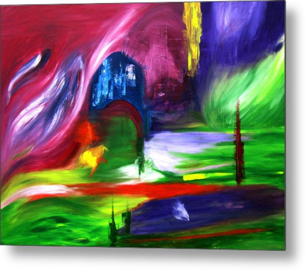 Lost In Northern Lights Metal Print by ColorAndCommotion By Kritka