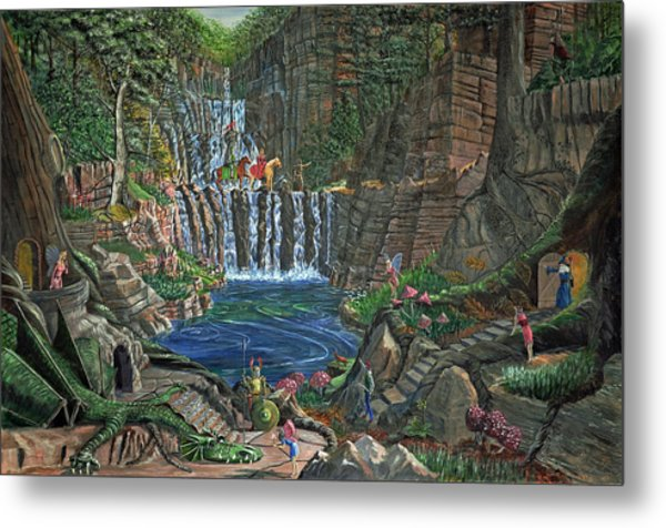 Lost In The Magic Forest Metal Print