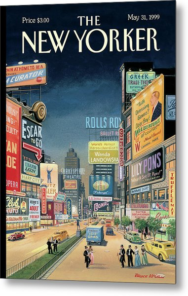 Lost Times Square Metal Print