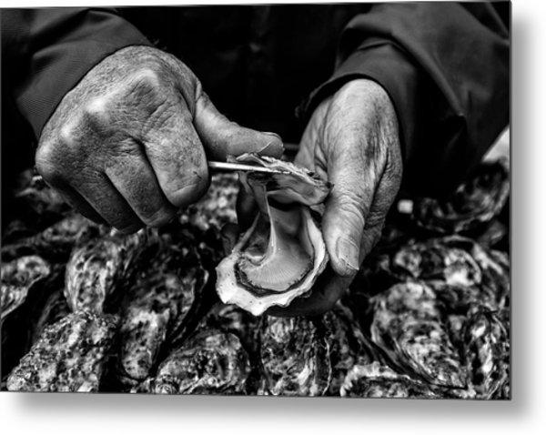 L'ostreiculteur  Oyster Farmer Metal Print