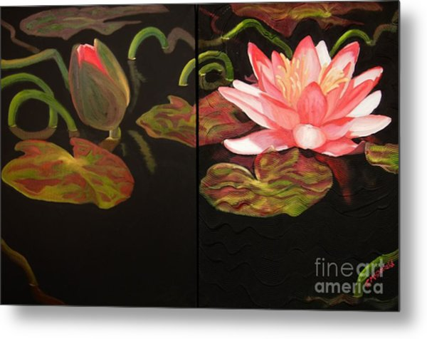 Lotus Bud To Bloom Metal Print