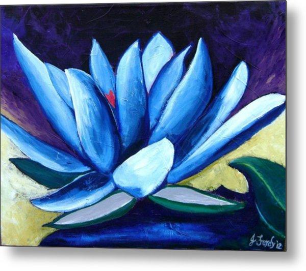 Lotus Flower Metal Print by Jennifer Charton